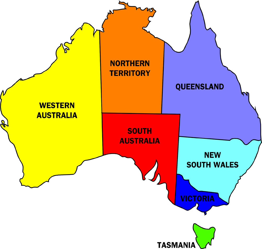 Maps Update 21901577 Map of Australia by State Map States – State Map of Australia